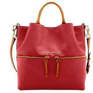 Dooney & Bourke Dawson Leather Red Tote
